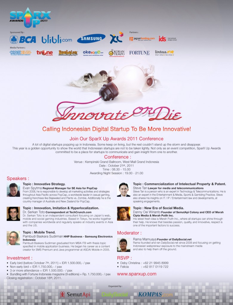 I Will Keynote The SparxUp Awards 2011 In Jakarta, Indonesia ...